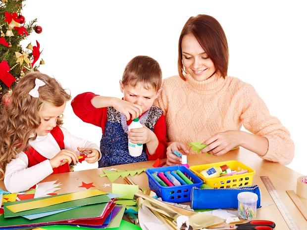 decoratiuni de craciun cu copiii
